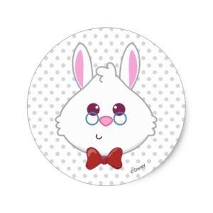 Alice in Wonderland | White Rabbit Emoji Classic Round Sticker