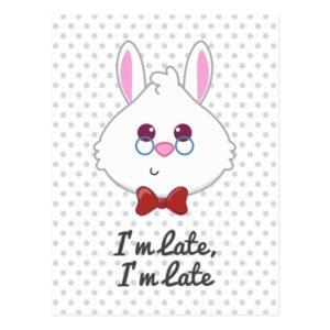 Alice in Wonderland   White Rabbit Emoji Postcard