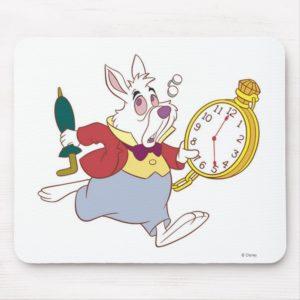 Alice in Wonderland's White Rabbit Running Disney Mouse Pad