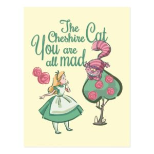 Alice   You Are All Mad Postcard
