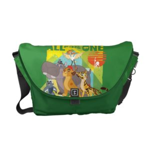 All For One Lion Guard Graphic Courier Bag