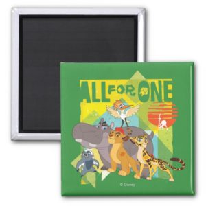 All For One Lion Guard Graphic Magnet