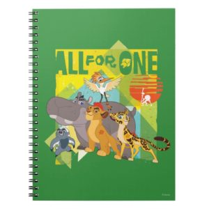 All For One Lion Guard Graphic Notebook