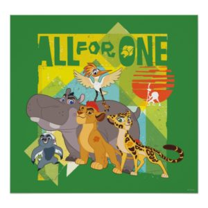 All For One Lion Guard Graphic Poster