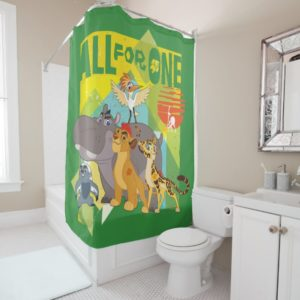 All For One Lion Guard Graphic Shower Curtain