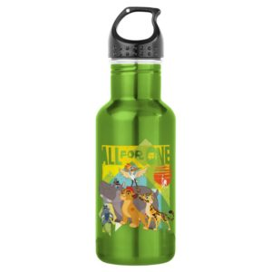 All For One Lion Guard Graphic Stainless Steel Water Bottle