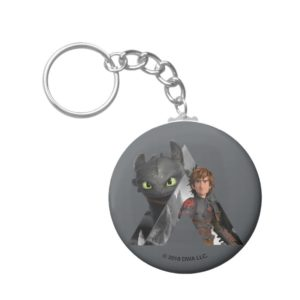 Alpha Dragon Toothless & Hiccup Keychain