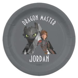 Alpha Dragon Toothless & Hiccup Paper Plate