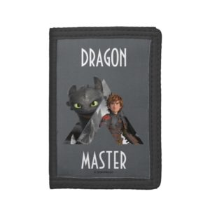 Alpha Dragon Toothless & Hiccup Trifold Wallet