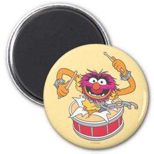 Animal Crashing Through Drums Magnet