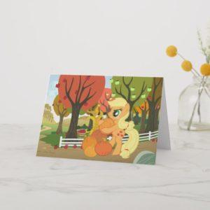 Applejack with Pumpkins Card