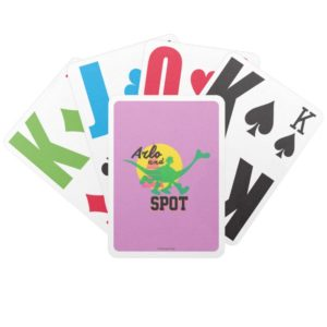 Arlo And Spot Sunset Bicycle Playing Cards