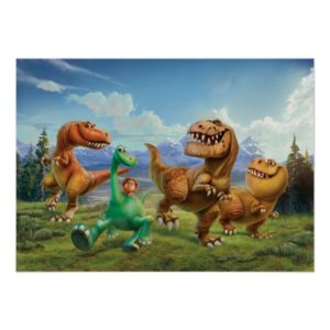 Arlo, Spot, and Ranchers In Field Poster