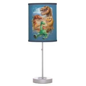 Arlo, Spot, and Ranchers In Forest Table Lamp