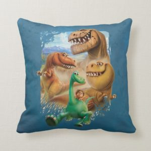 Arlo, Spot, and Ranchers In Forest Throw Pillow