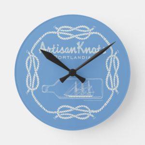 Artisan Knots Round Clock
