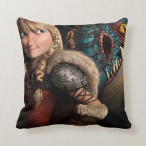 Astrid & Stormfly Throw Pillow