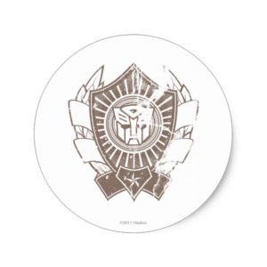 Autobot Distressed Badge 2 Classic Round Sticker