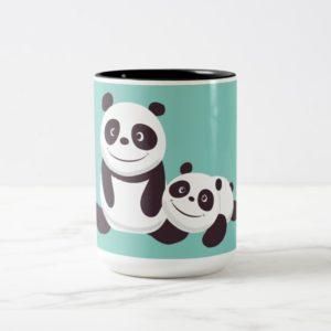 Baby Pandas Two-Tone Coffee Mug