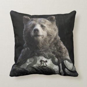 Baloo & Mowgli | The Jungle Book Throw Pillow
