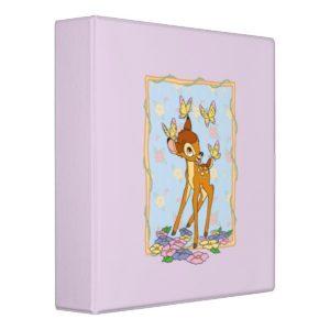 Bambi and Butterflies 3 Ring Binder