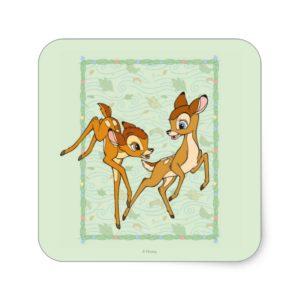 Bambi and Faline Square Sticker