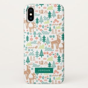 Bambi and Woodland Friends Pattern | Add Your Name Case-Mate iPhone Case