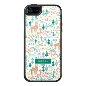 Bambi and Woodland Friends Pattern | Add Your Name OtterBox iPhone Case