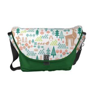 Bambi and Woodland Friends Pattern Messenger Bag