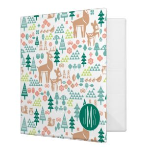 Bambi and Woodland Friends Pattern | Monogram Binder