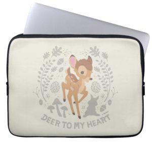 "Bambi ""Deer To My Heart"" Forest Graphic Computer Sleeve"