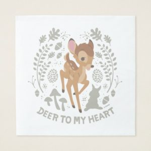 """Bambi """"Deer To My Heart"""" Forest Graphic Napkin"""