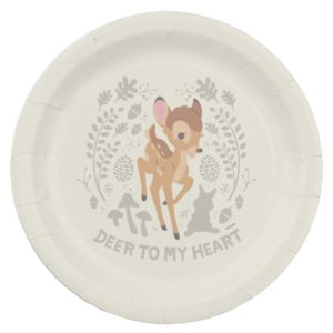 """Bambi """"Deer To My Heart"""" Forest Graphic Paper Plate"""