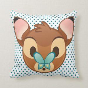 Bambi Emoji Throw Pillow