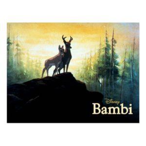 Bambi & Faline On Cliff Postcard