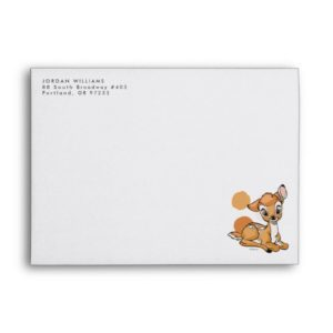 Bambi Sitting With A Smile Envelope