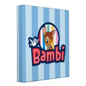 Bambi Striped Badge 3 Ring Binder