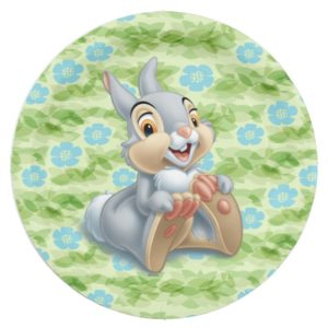 Bambi's Thumper Holding His Feet Paper Plate