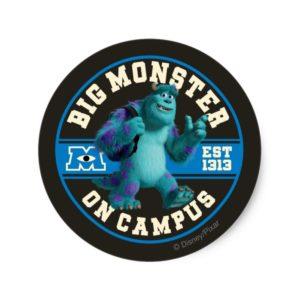 Big Monster on Campus Classic Round Sticker