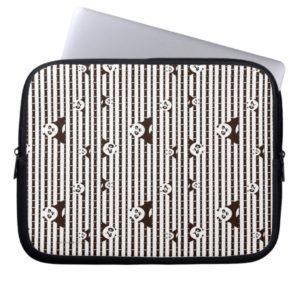 Black and White Po Pattern Laptop Sleeve