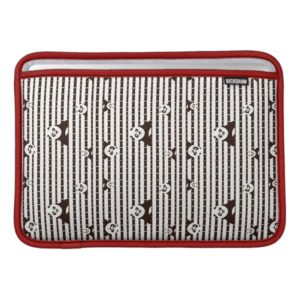 Black and White Po Pattern Sleeve For MacBook Air
