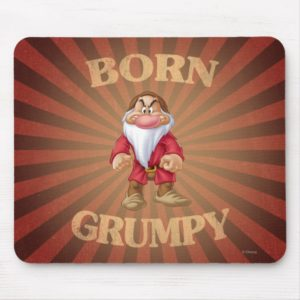 Born Grumpy Mouse Pad