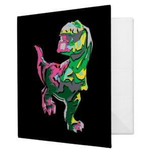 Butch Abstract Silhouette 3 Ring Binder