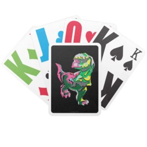 Butch Abstract Silhouette Bicycle Playing Cards