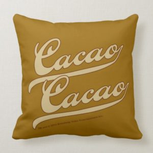 Cacao, Cacao! Throw Pillow