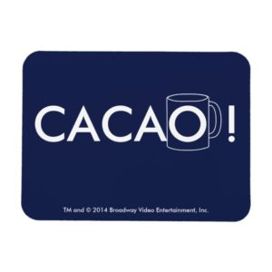 Cacao! White And Blue Flexible Magnet