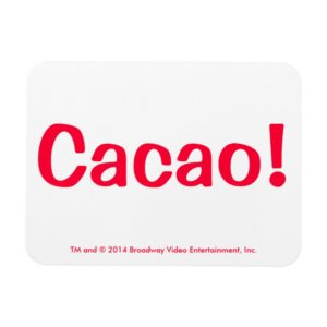 Cacao! White And Red Flexible Magnet