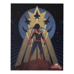 Captain Marvel | Art Deco Airforce Graphic