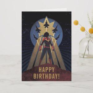 Captain Marvel | Art Deco Airforce Graphic Card