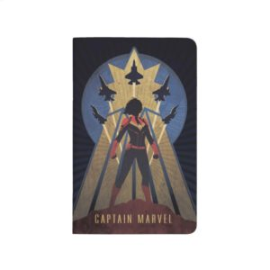 Captain Marvel   Art Deco Airforce Graphic Journal
